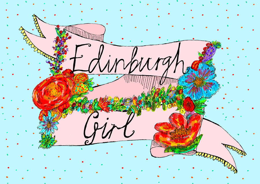 EDINBURGH GIRL Greetings Card