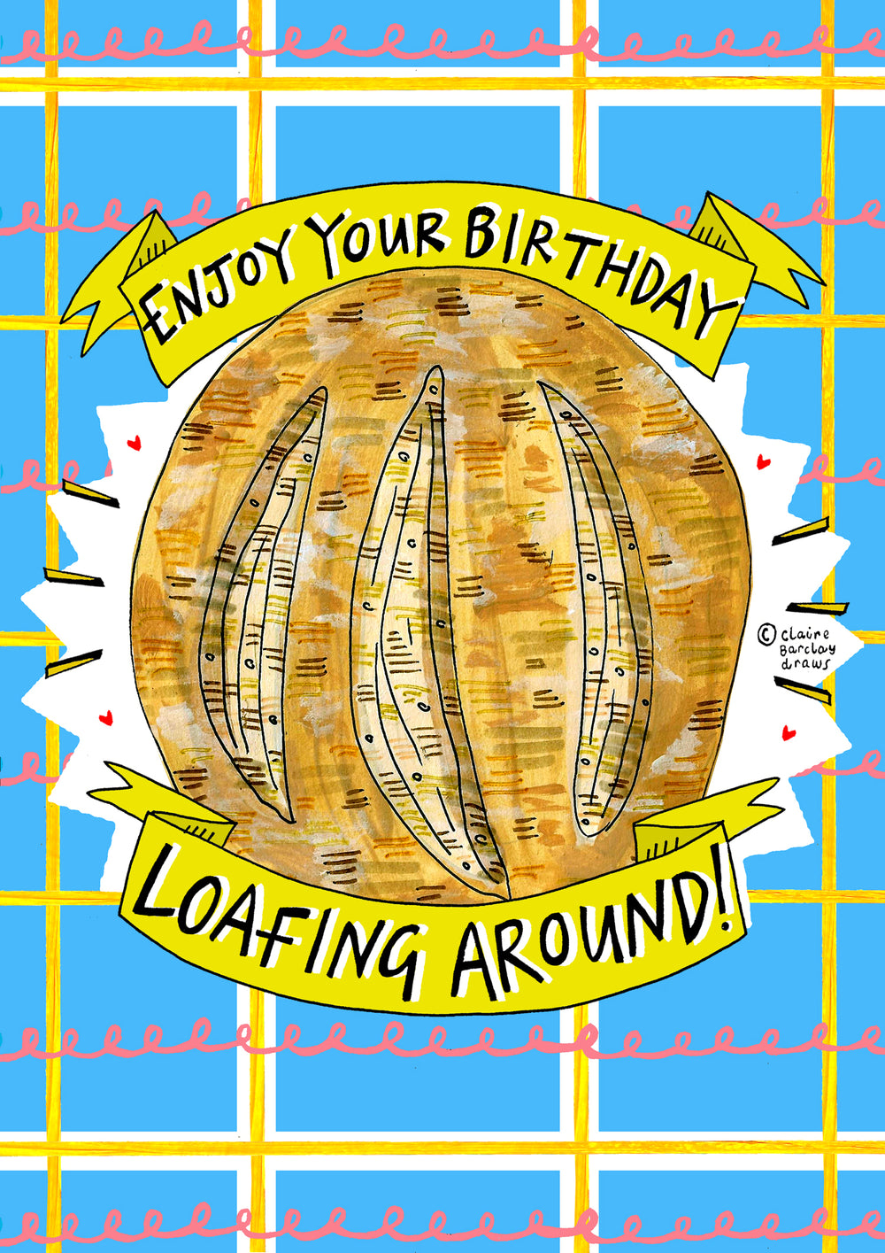 Enjoy Your Birthday LOAFING AROUND! Greetings Card