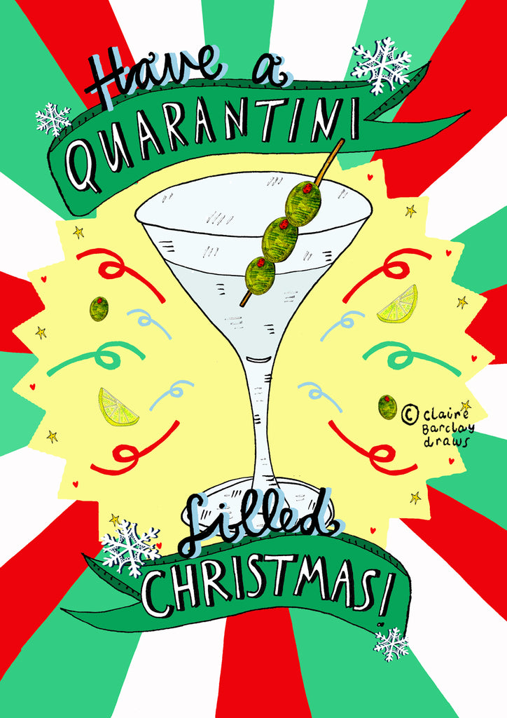 Have a Quarantini filled Christmas! Card