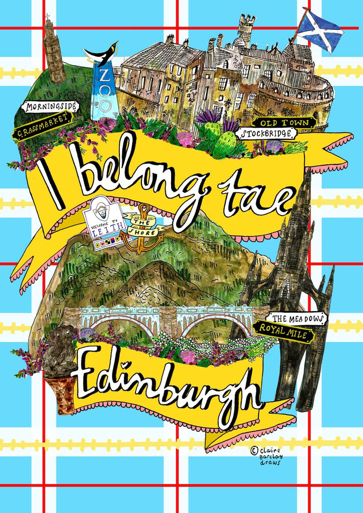 I Belong Tae Edinburgh Tote Bag