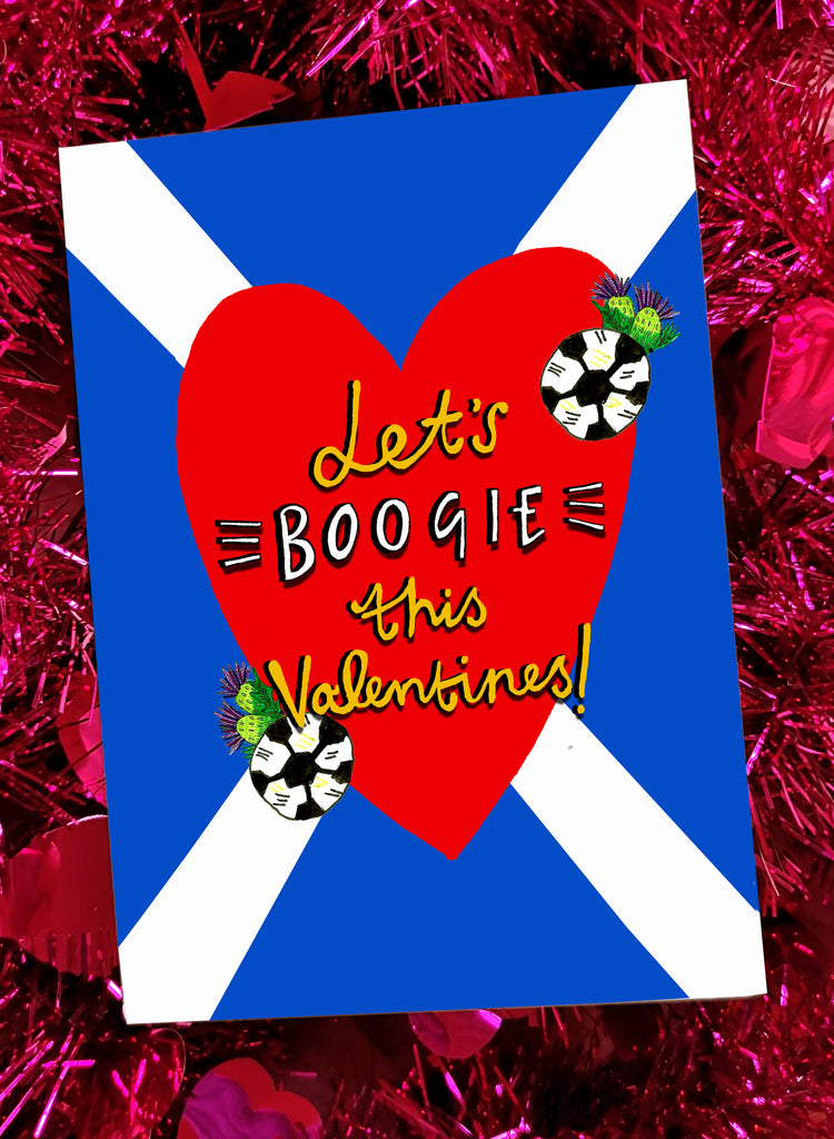 Let's BOOGIE This Valentines! Greetings Card