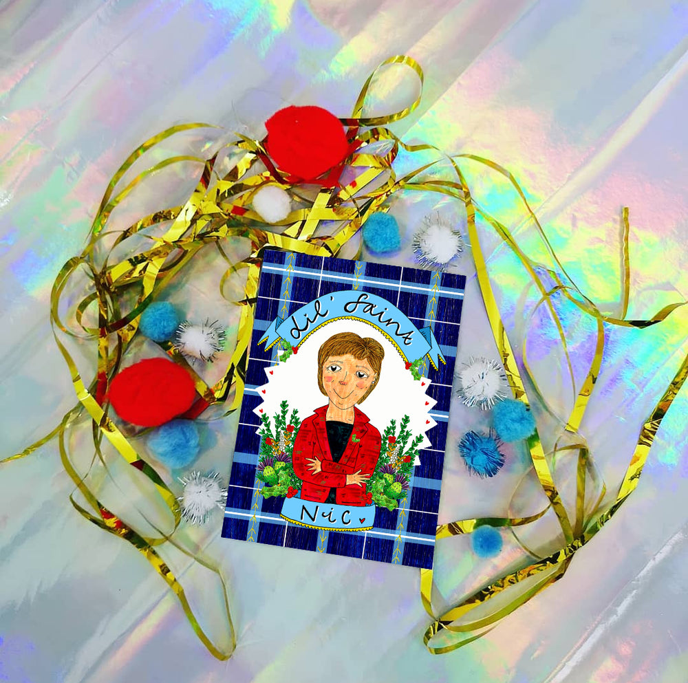 'Lil' Saint Nic' Christmas Greetings Card