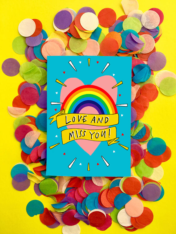 Love and Miss You! Greetings Card