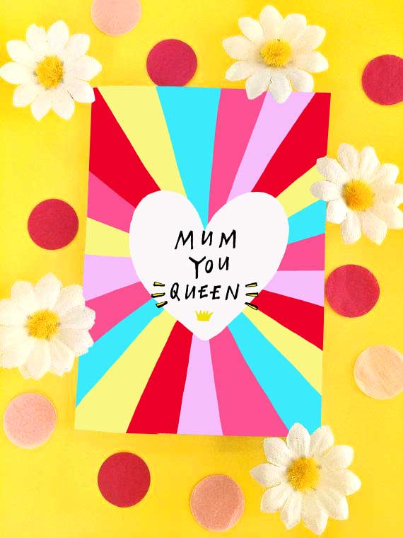 MUM YOU QUEEN Greetings Card