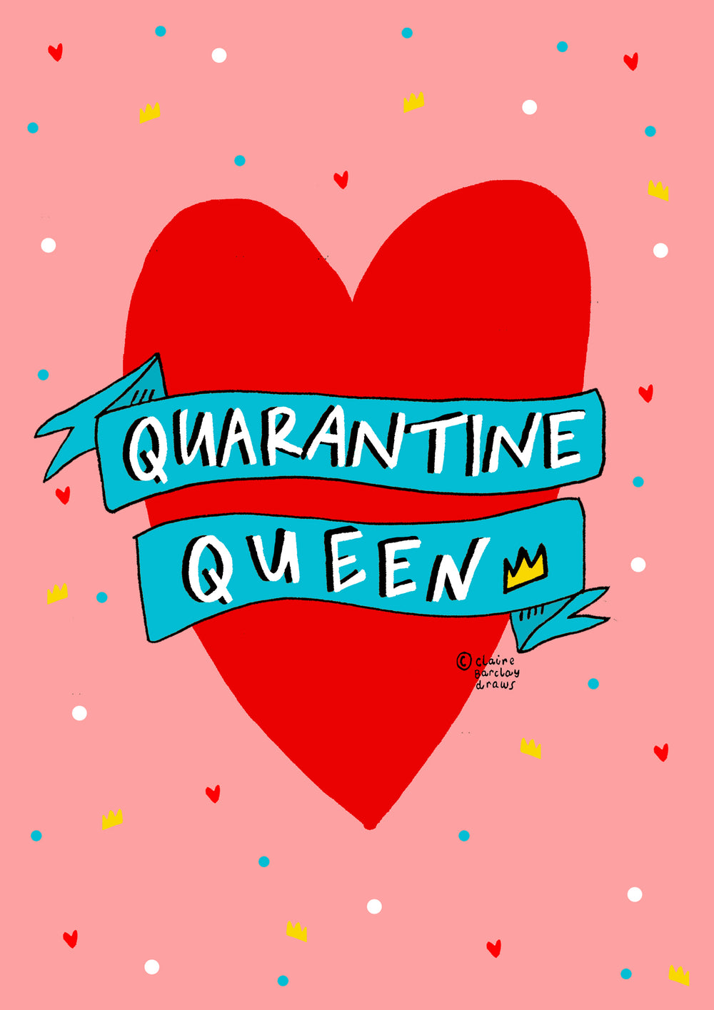 QUARANTINE QUEEN! Greetings Card