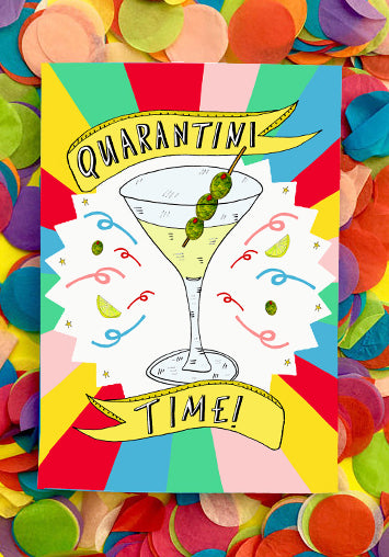 QUARANTINI TIME! Greetings Card