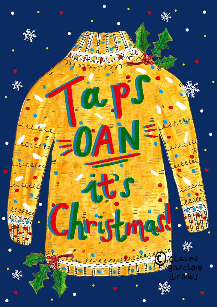 Taps OAN it's Christmas! Xmas Card