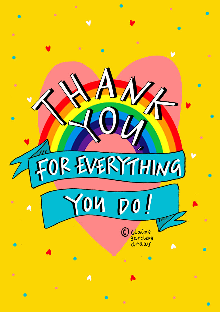 THANK YOU for everything you do! Greetings Card