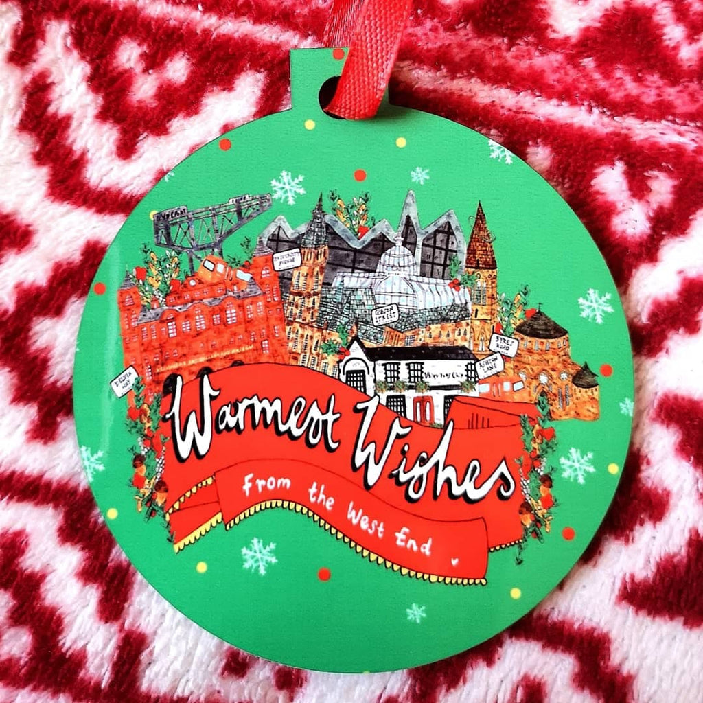 Warmest Wishes from the West End of Glasgow! Christmas Bauble