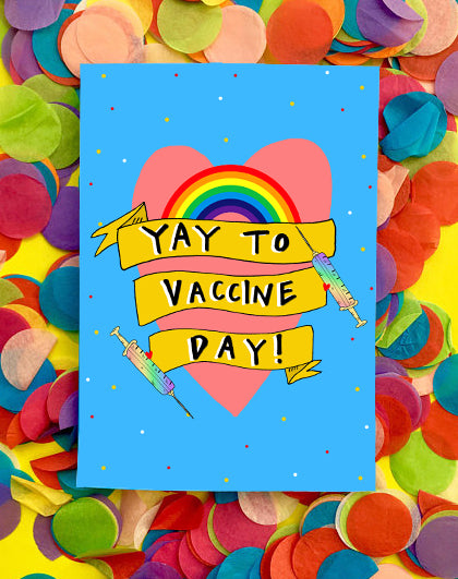YAY to Vaccine Day! Greetings Card