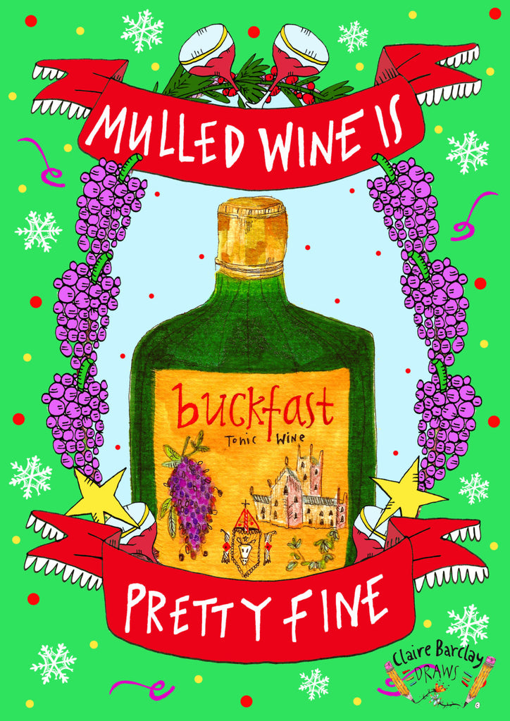 Mulled Wine is Pretty Fine! Xmas Card