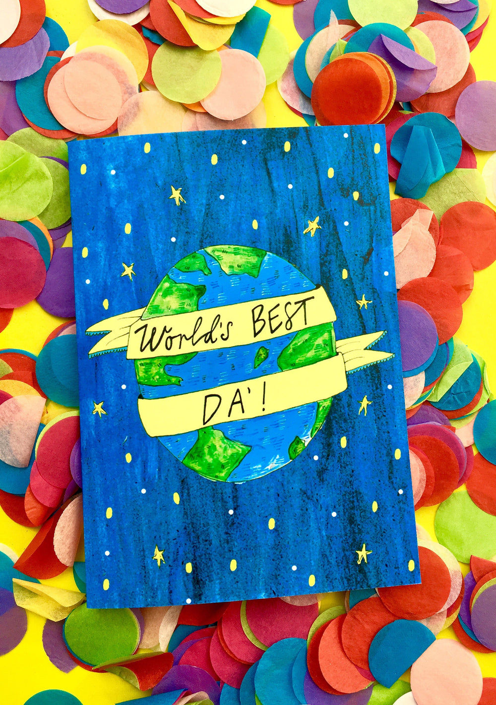 World's BEST Da', Father's Day Greetings Card, Scottish Slang Typography Quirky Fathers Day Card, Fun Card for a Pure Braw Dad