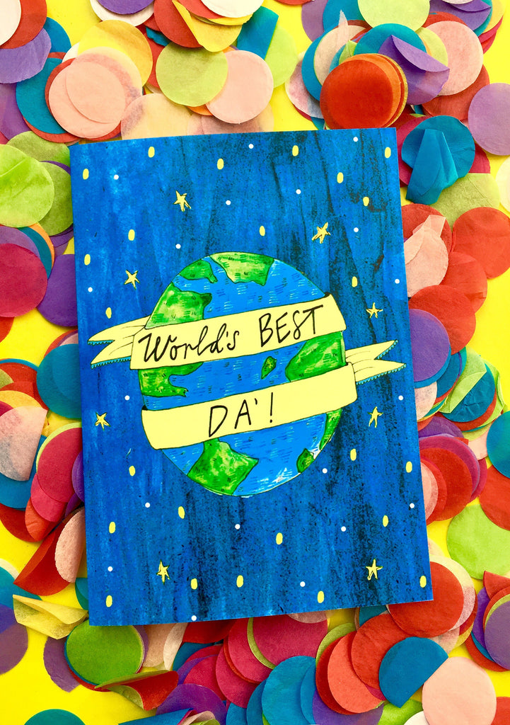 World's BEST Da' Greetings Card