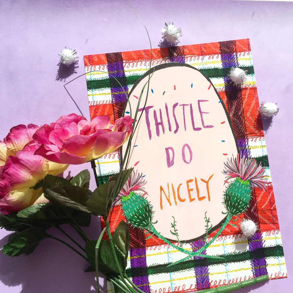 Thistle Do Nicely Illustration Print