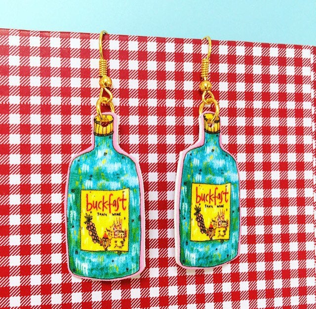 Buckfast Bottle Illustrated Earrings