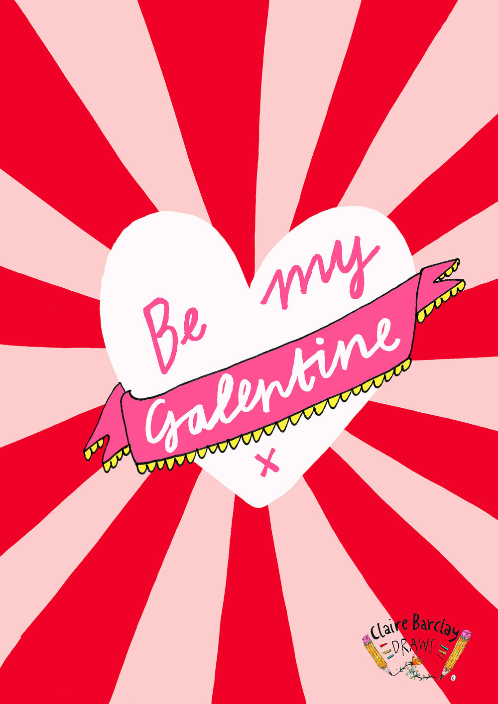 Be My GALENTINE Greetings Card, Galentines and Valentines Greetings Card