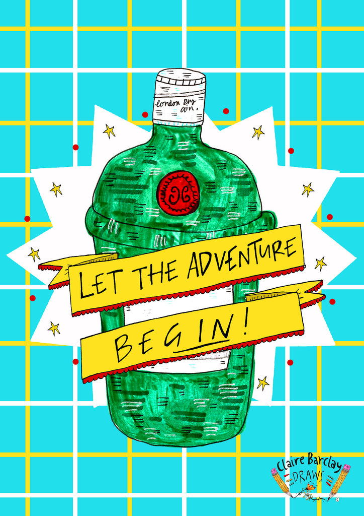 Let the Adventure BEGIN  Greetings Card