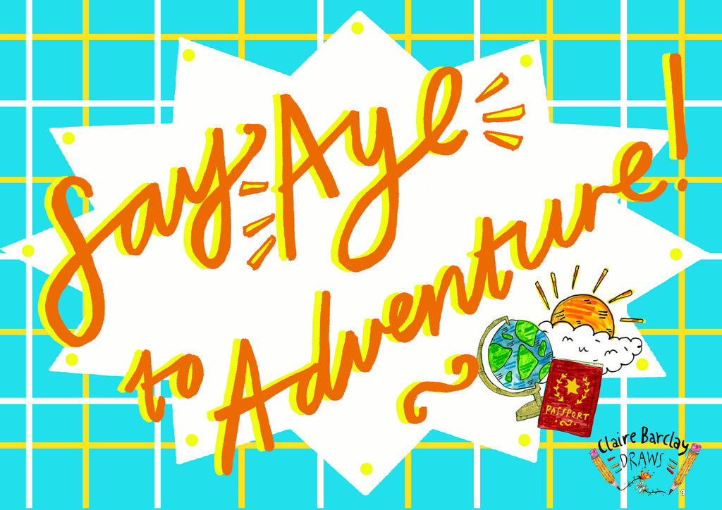 Say AYE to Adventure Greetings Card