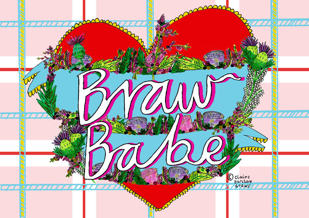 BRAW BABE Greetings Card