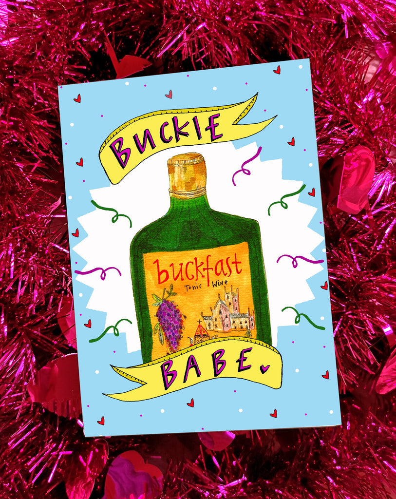 BUCKIE BABE Greetings Card