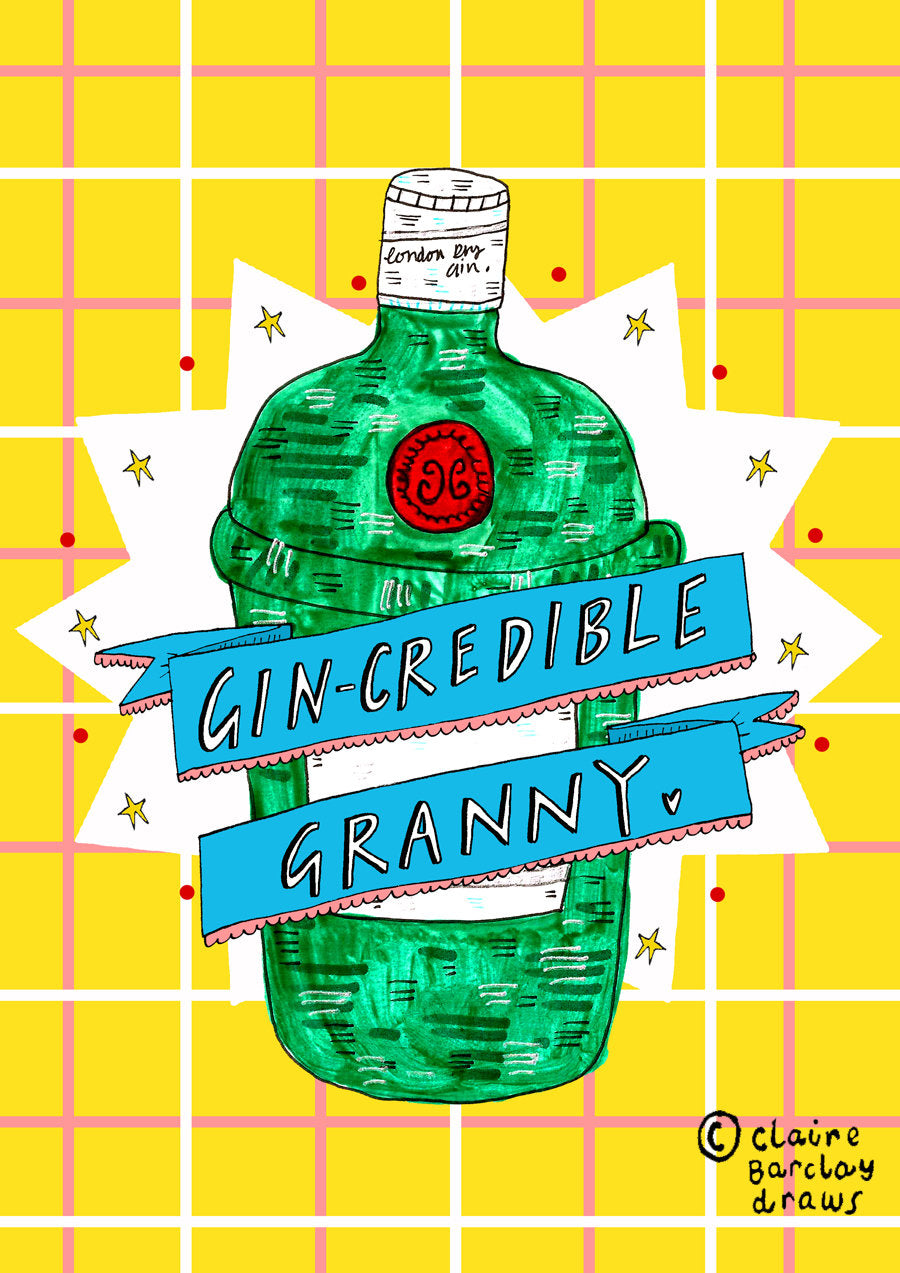 GIN-credible Granny Mother's Day Greetings Card, Gin Granmother Card