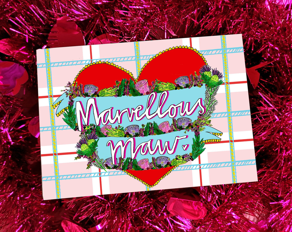 Marvellous Maw Mother's Day Greetings Card, Scottish Slang Card for a Fabulous Mother