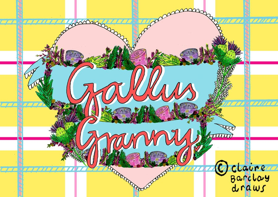 Gallus Granny Mother's Day Greetings Card