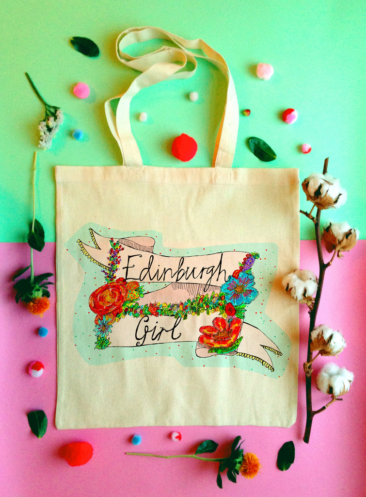 EDINBURGH GIRL Tote Bag