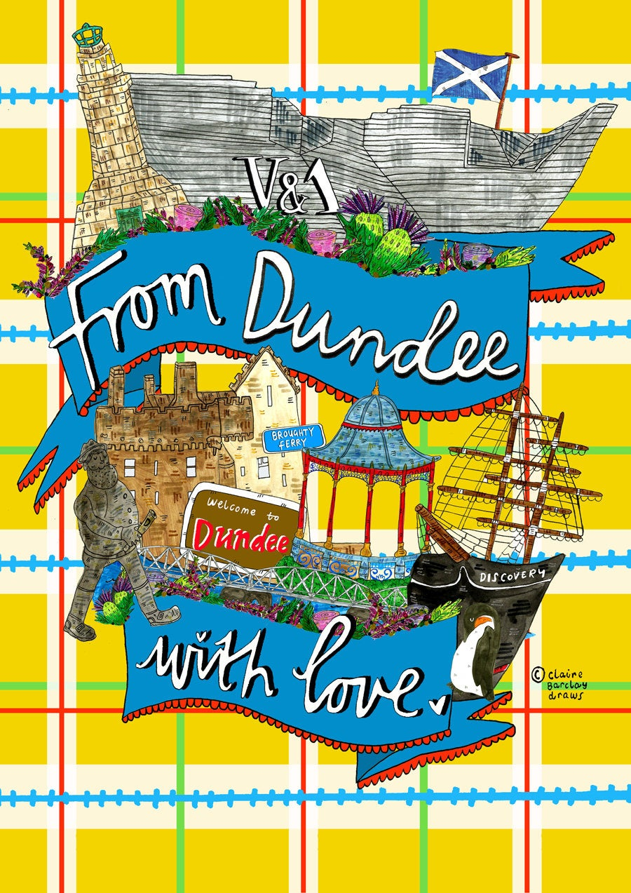 From Dundee With Love Greetings Card