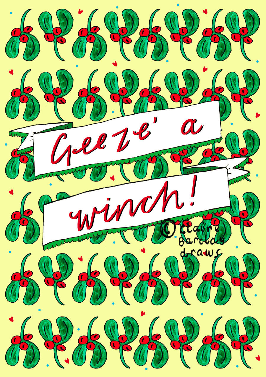 Geez' a Winch! Christmas Card