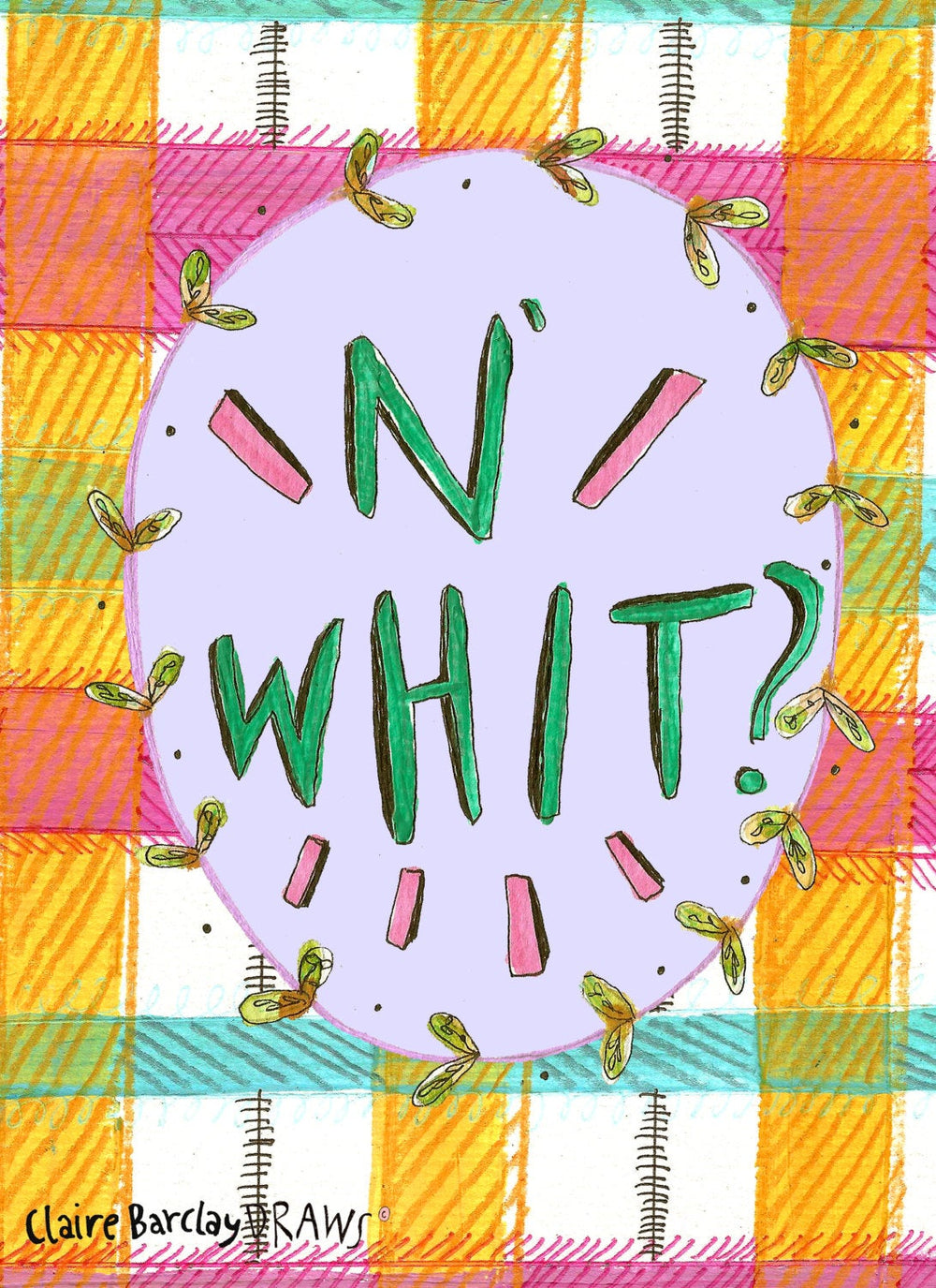 N' Whit Illustration Print