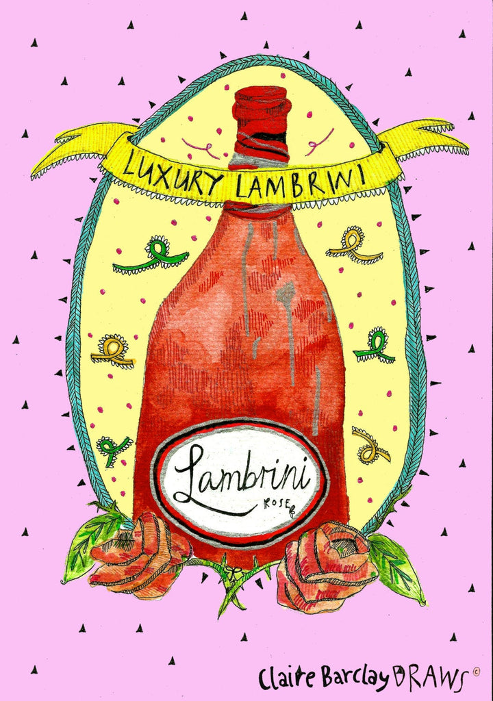 Luxury Lambrini Illustration Print
