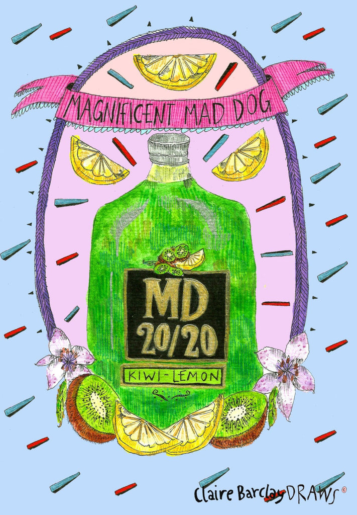 Magnificent Mad Dog 20/20 Greetings Card