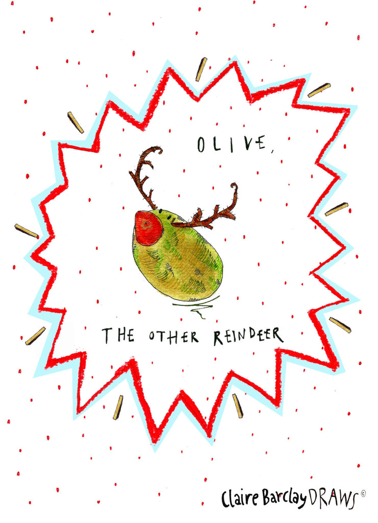 Olive the Other Reindeer! Christmas Card
