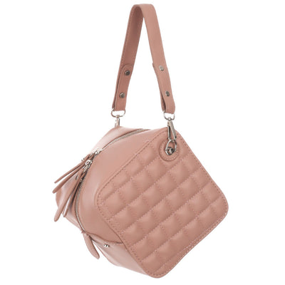 Quilted Cube Bag JEMS Boutique Style PINK