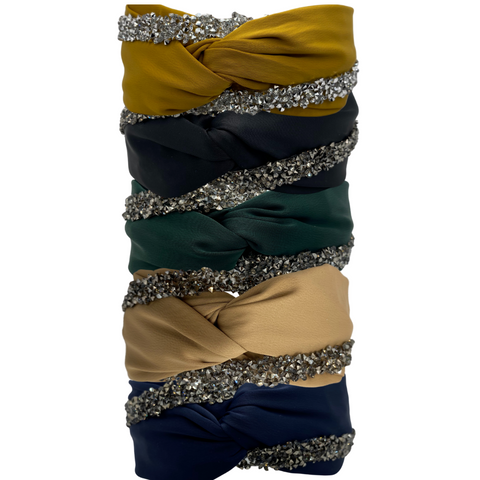 EWA SATIN embellished headbands