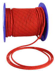 3871 - BRAIDED . PRE STRETCHED POLYESTER ROPE . BRAID ON BRAID