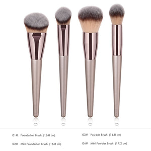 Champagne Gold Makeup Brush Set