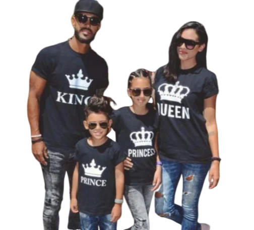 King & Queen, Prince & Princess Family T Shirt