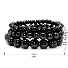 Load image into Gallery viewer, Black Tourmaline Magnetic Bracelet