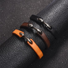 Load image into Gallery viewer, Leather Hook Bracelet