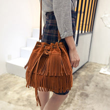 Load image into Gallery viewer, Suede Fringe Tassel Bag