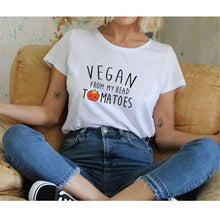 Load image into Gallery viewer, Vegan From My Head Tomatoes T Shirt