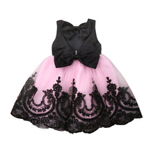 Load image into Gallery viewer, Black Lace Tulle Dress