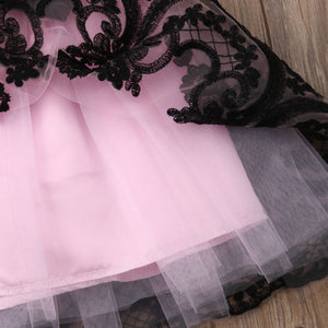 Black Lace Tulle Dress
