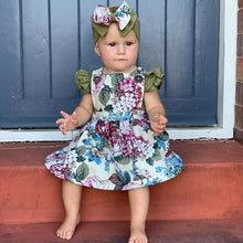 Load image into Gallery viewer, Floral Dress & Romper Set