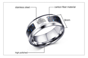 Personalised Carbon Fiber Tree Of Life Ring