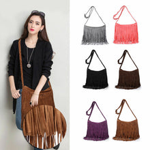 Load image into Gallery viewer, Suede Fringe Bag