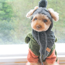 Load image into Gallery viewer, Dog Knitted Hat & Scarf Set