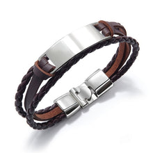 Load image into Gallery viewer, Personalised Leather Bracelet
